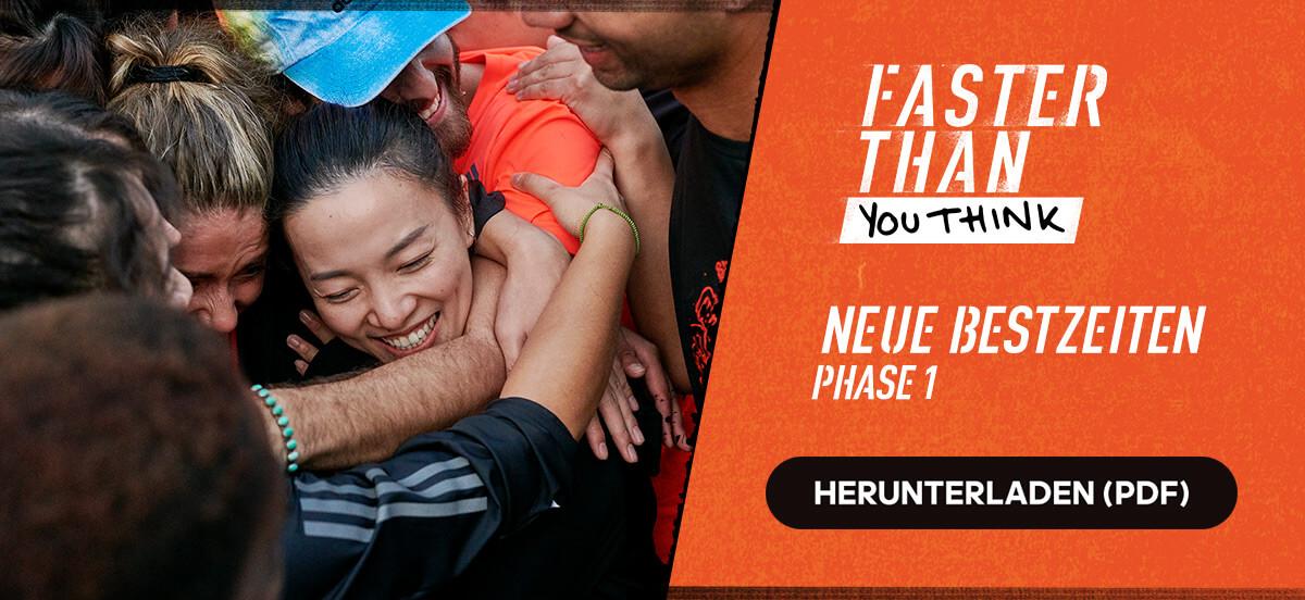 Kostenloser adidas Runtastic Lauftrainingsplan: Neue Bestzeiten