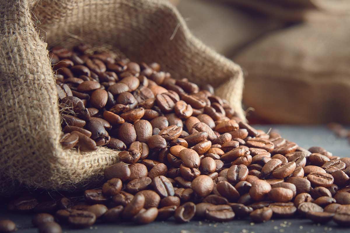 des grains de café