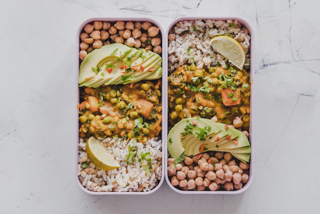 Un pasto sano preparato in anticipo per la settimana