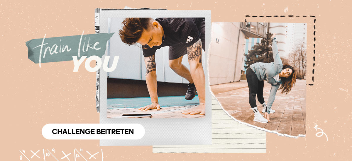 Mach bei der train like challenge mit