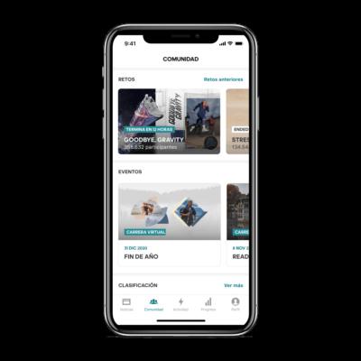 Retos y carreras virtuales en la app adidas Running