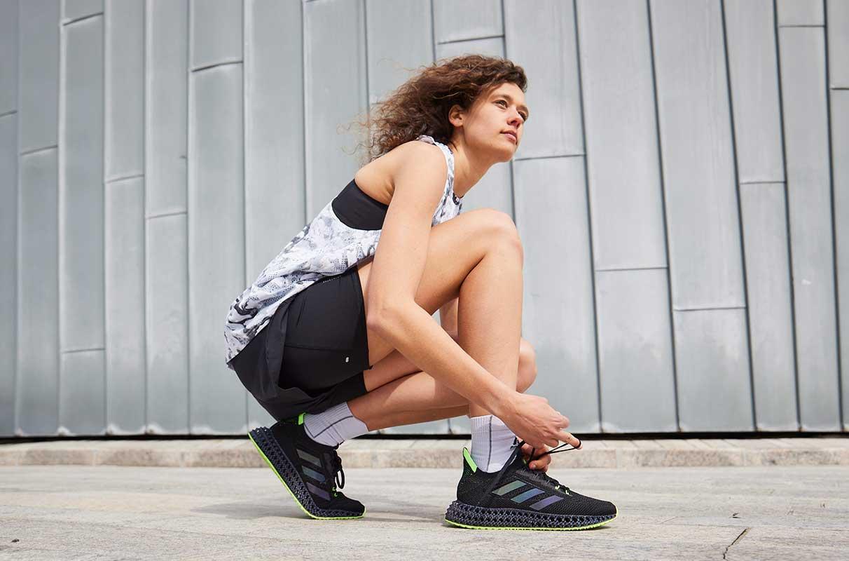 woman preparing for a run