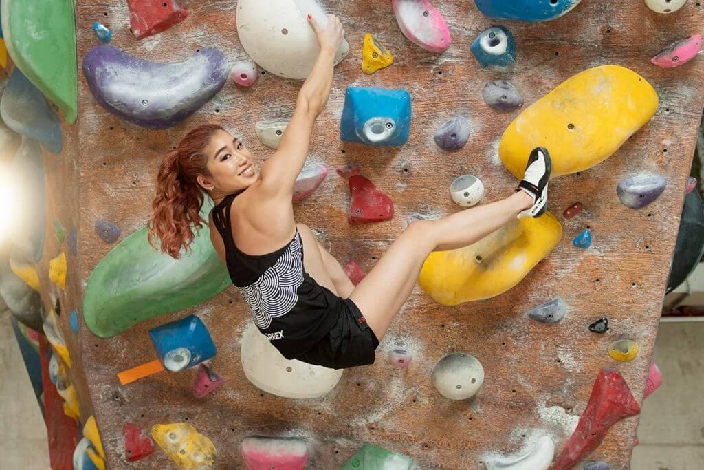 Miho Nonaka faz exercícios para escalar melhor