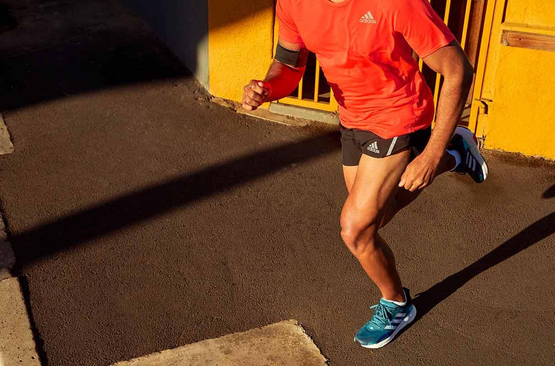 primo piano di runner